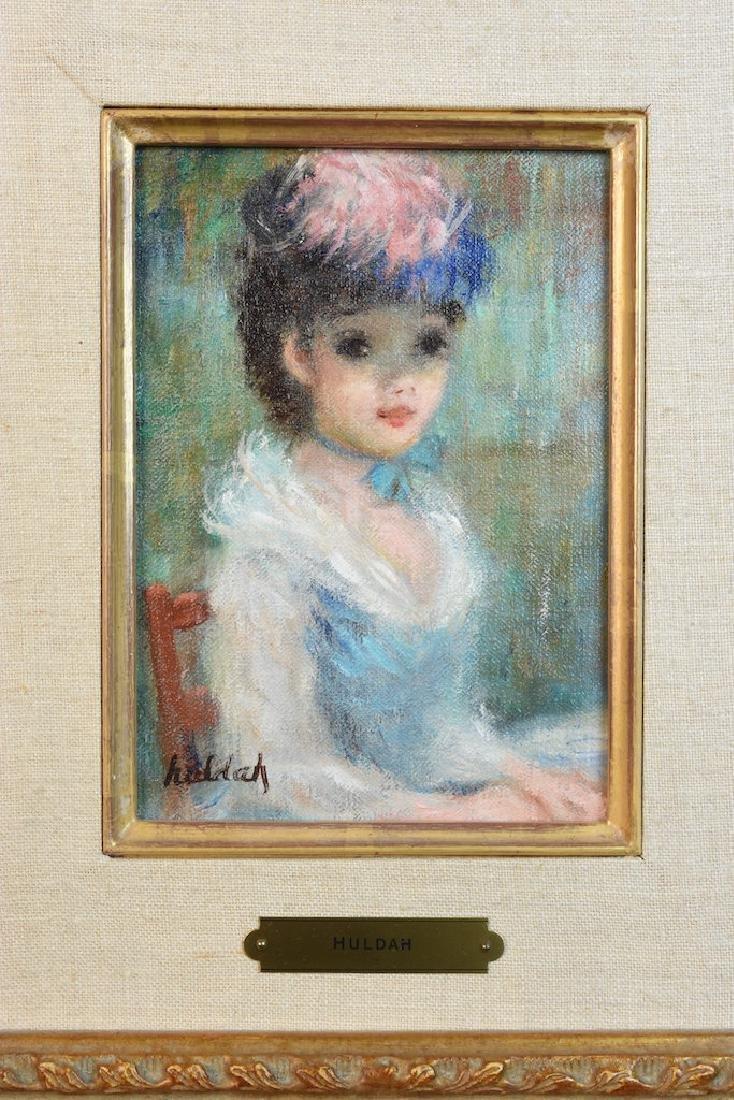 """Original Huldah Oil Painting """"La Chapeau"""" SLL - 2"""
