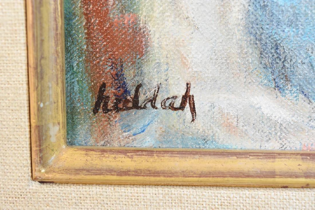"""Original Huldah Oil Painting """"La Chapeau"""" SLL - 3"""