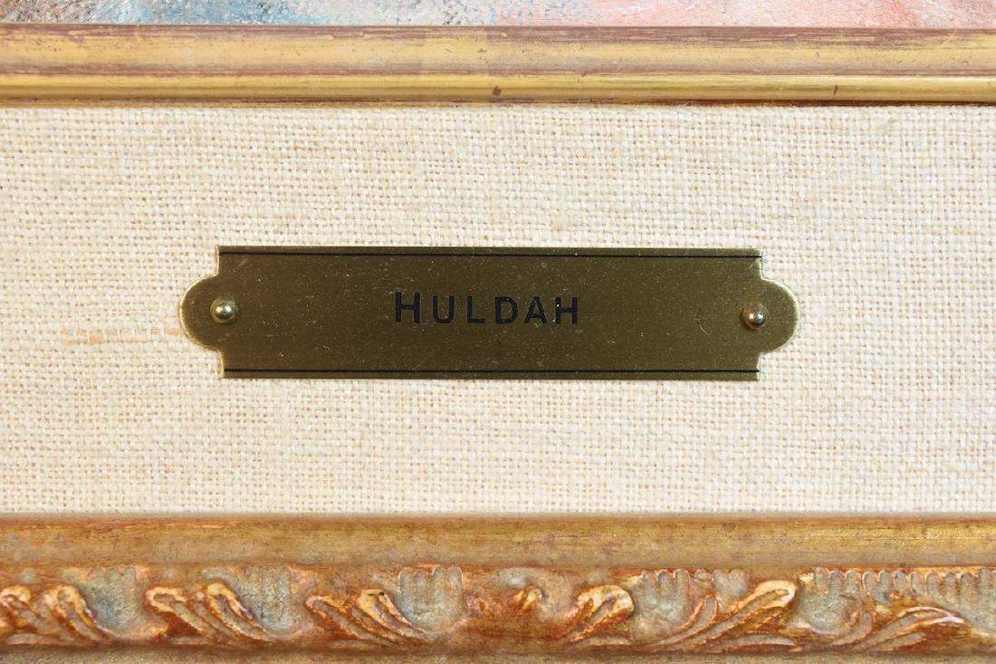 """Original Huldah Oil Painting """"La Chapeau"""" SLL - 4"""
