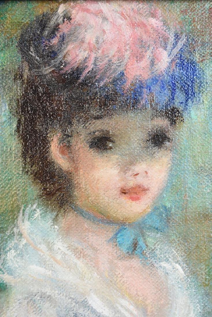 """Original Huldah Oil Painting """"La Chapeau"""" SLL - 5"""