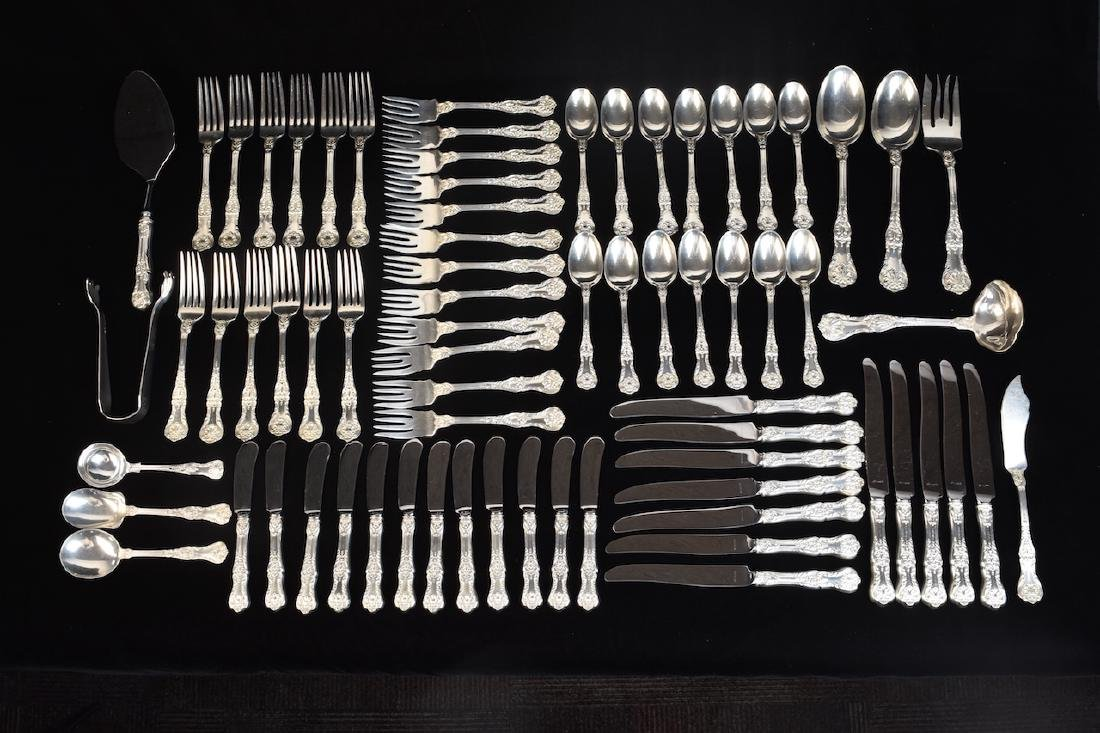 (72) Piece Gorham Sterling Silverware