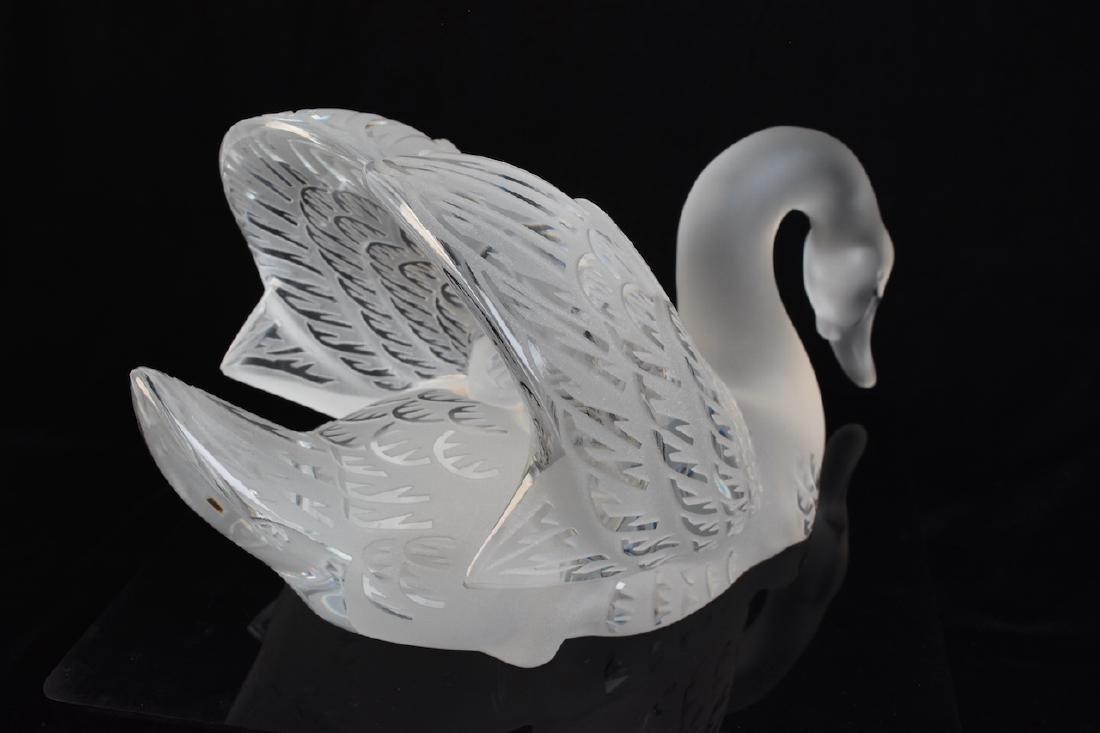 Lalique France Crystal Cygnet/ Swan - 4