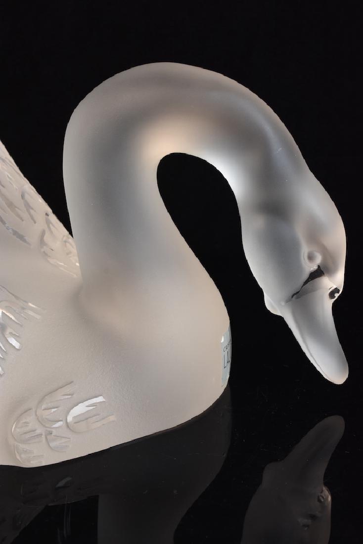 Lalique France Crystal Cygnet/ Swan - 5