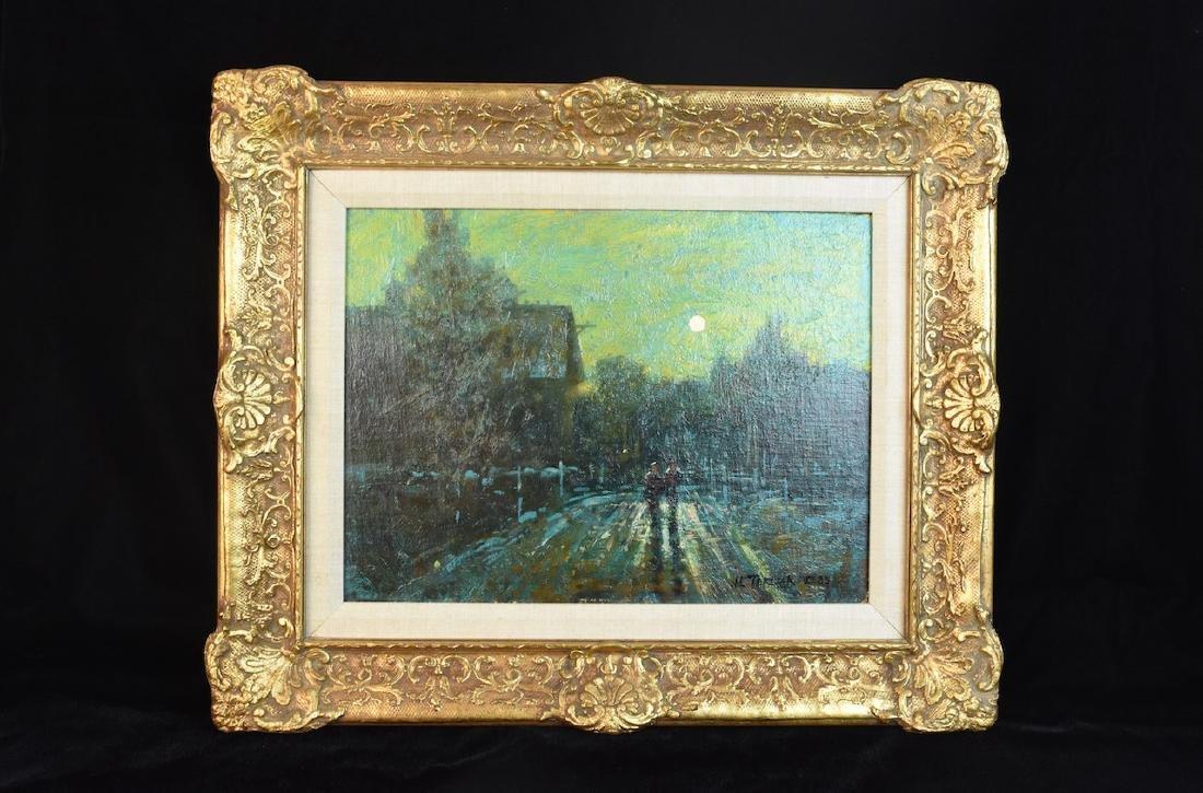 """John Terelak Oil Painting """"Moonlight"""" SLR"""