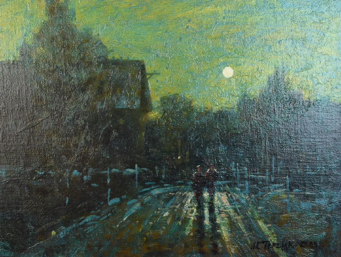 "John Terelak Oil Painting ""Moonlight"" SLR - 2"