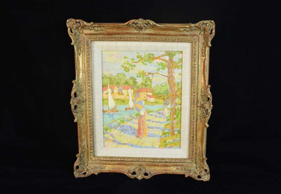 "Original Bernadette Oil Painting ""Picnic"" SLL"