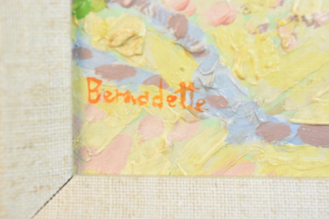 "Original Bernadette Oil Painting ""Picnic"" SLL - 3"