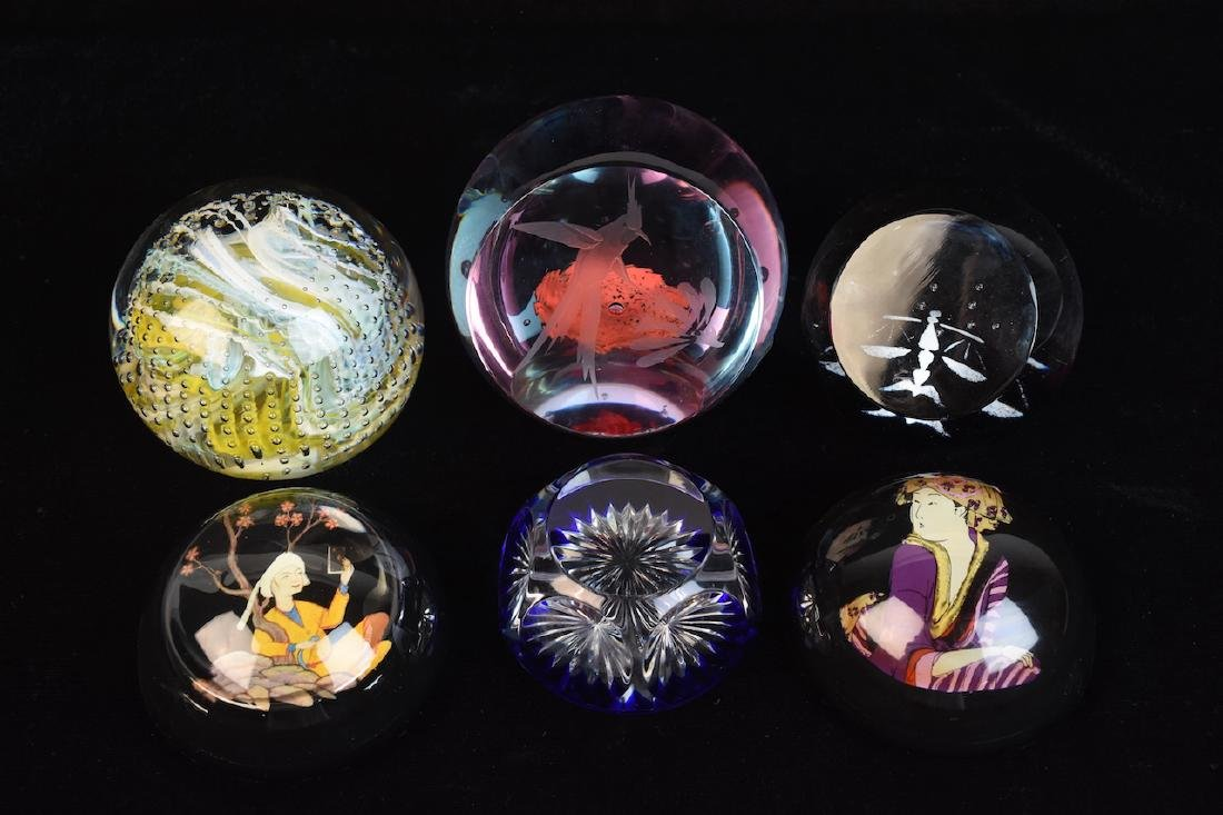 Assorted Paperweights; Baccarat, Caithness - 2