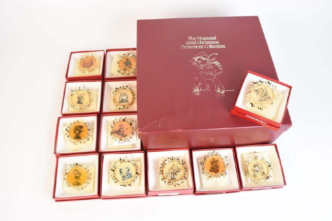 (12) Hummel Gold Christmas Ornaments