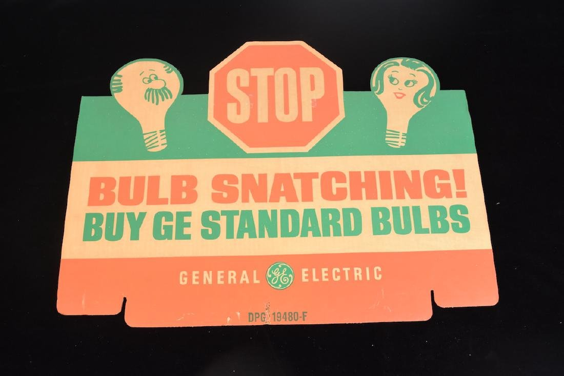 (2) GE Light bulb Advertising Signs - 2