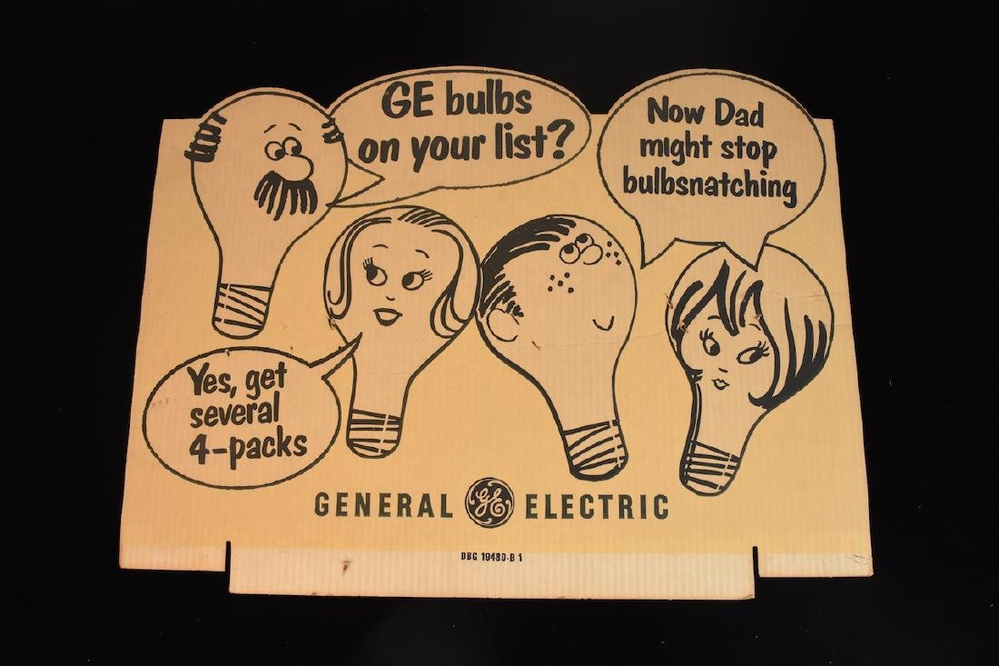 (2) GE Light bulb Advertising Signs - 4
