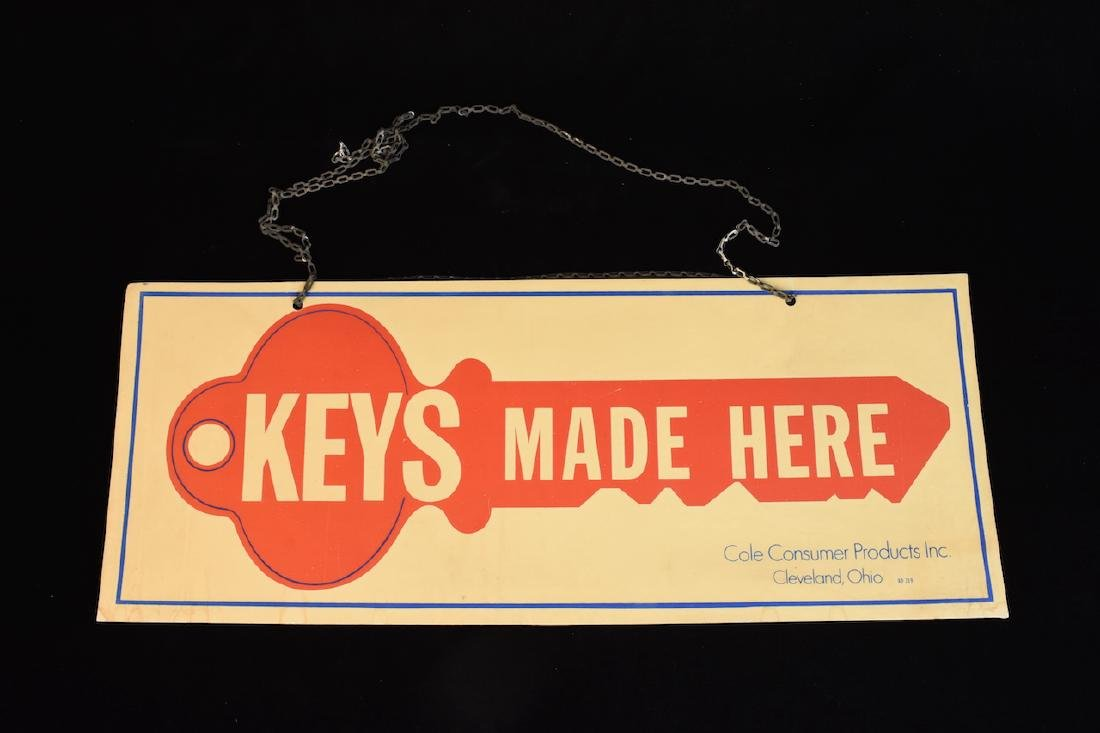 Keys Made Here Cole Consumer Products Sign
