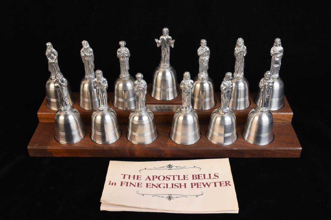 Danbury Mint Apostle Bells in English Pewter