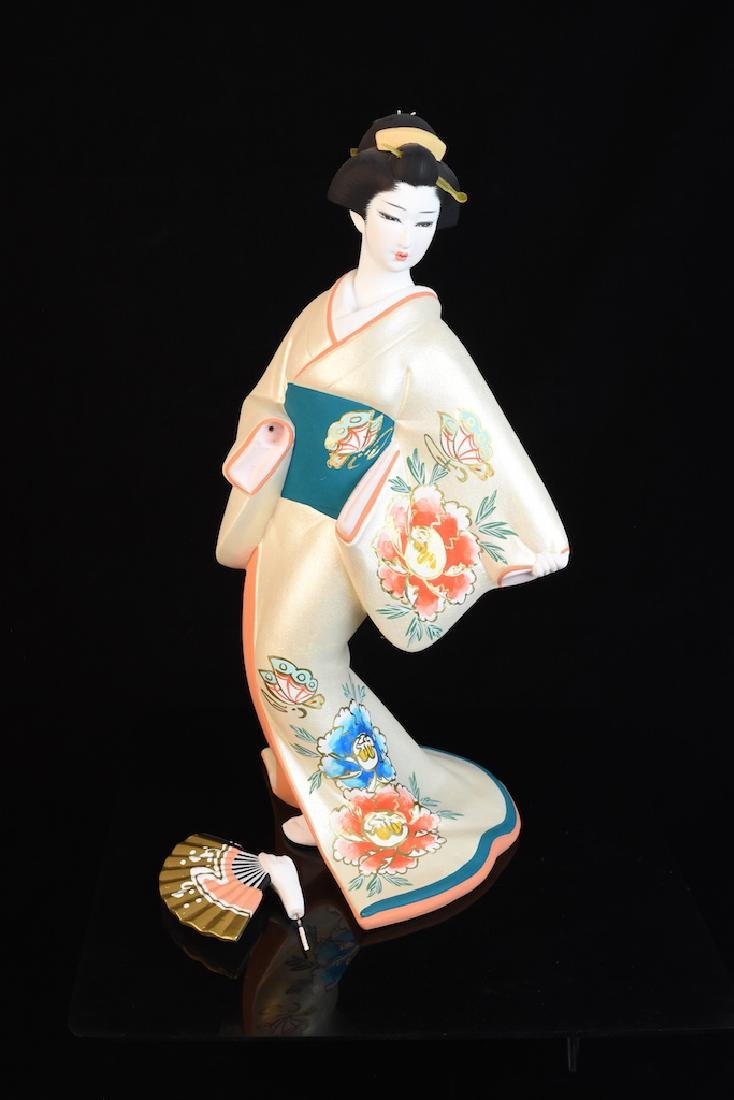 "Hakata ""Peony Maiden of Summer"" Bisque Figurine"