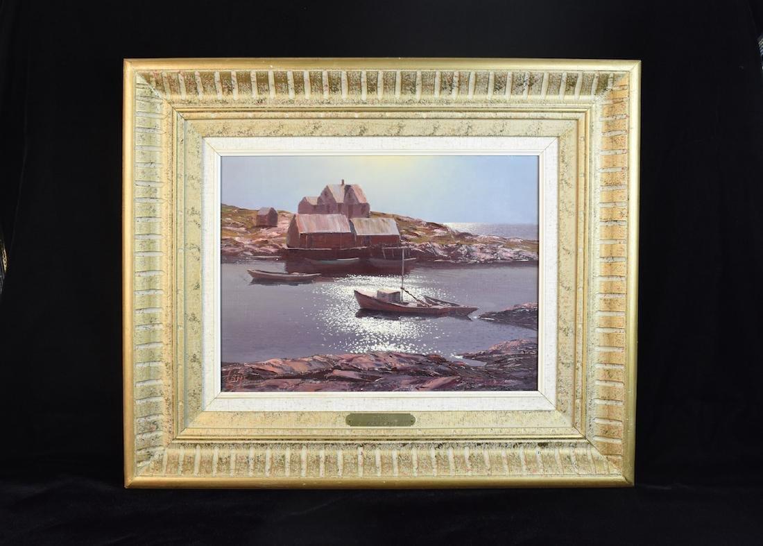 """Leonard C Lane Oil Painting """"Peace"""", SLL"""