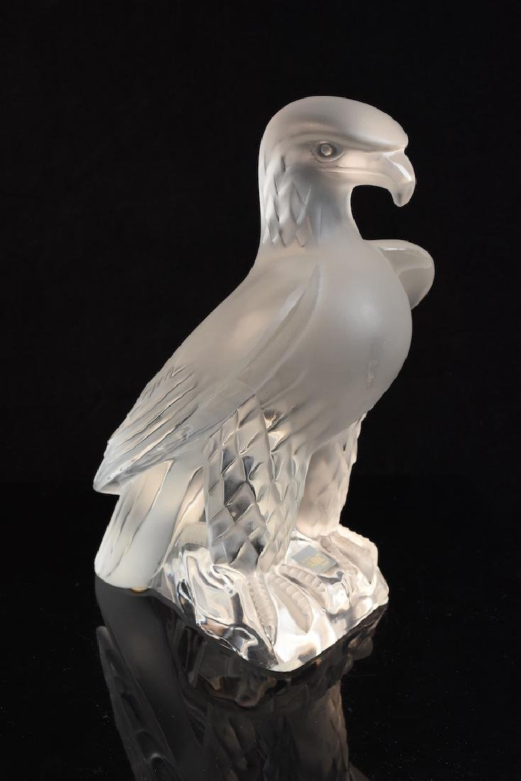 "Lalique France ""Liberty Eagle"" Crystal Sculpture"