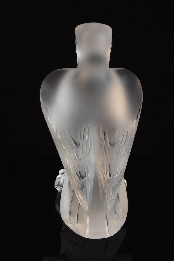 "Lalique France ""Liberty Eagle"" Crystal Sculpture - 2"