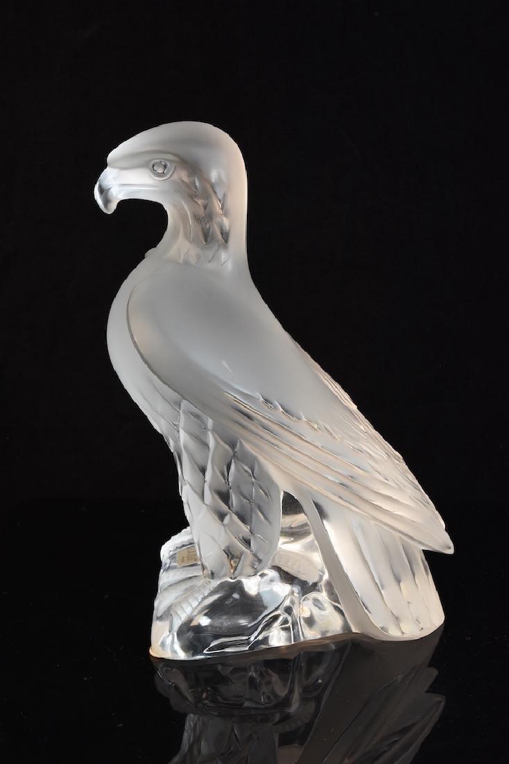 "Lalique France ""Liberty Eagle"" Crystal Sculpture - 3"