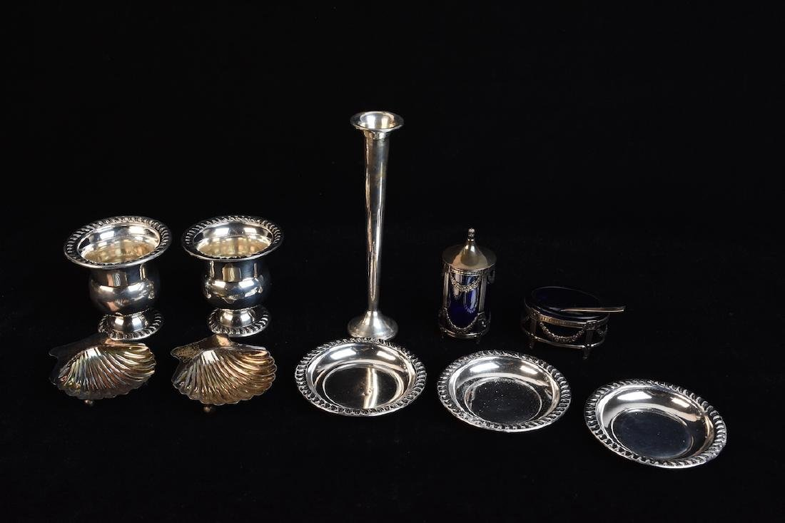 (10) Piece Sterling Silver Dining Accessories