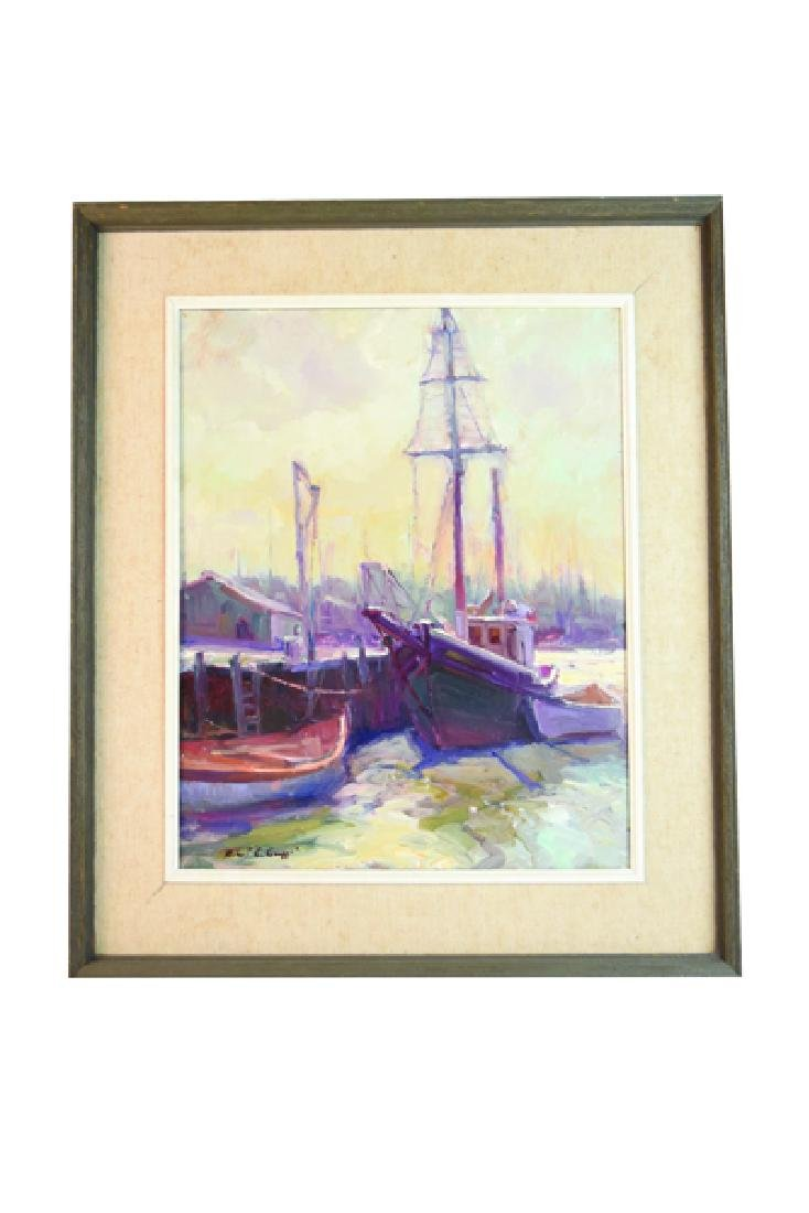 Robert C Gruppe Oil On Canvas