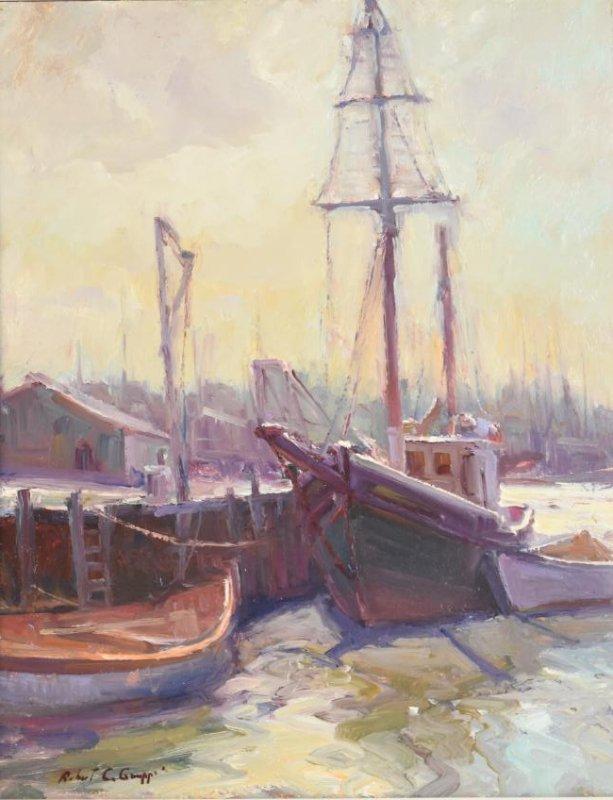 Robert C Gruppe Oil On Canvas - 2