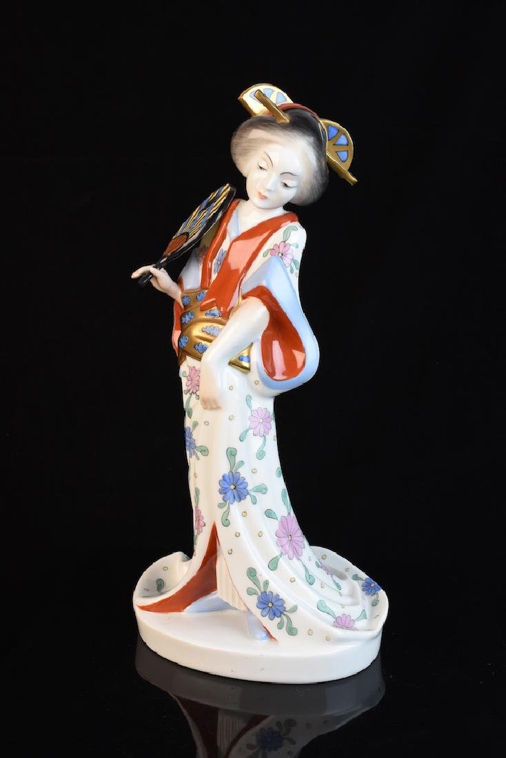 Herend Geisha Hand Painted Figurine, Hungarian