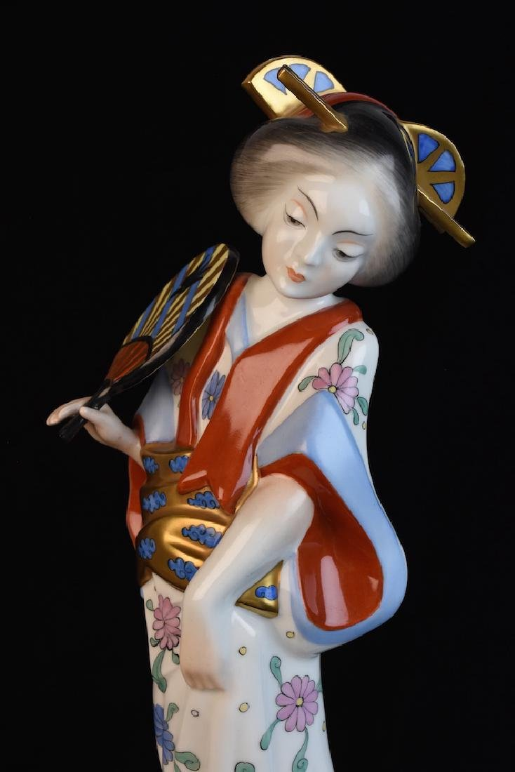 Herend Geisha Hand Painted Figurine, Hungarian - 2