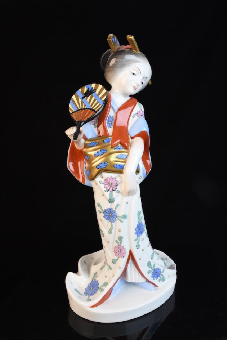 Herend Geisha Hand Painted Figurine, Hungarian - 3