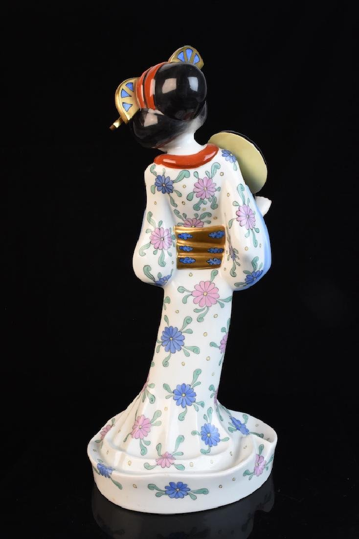 Herend Geisha Hand Painted Figurine, Hungarian - 4