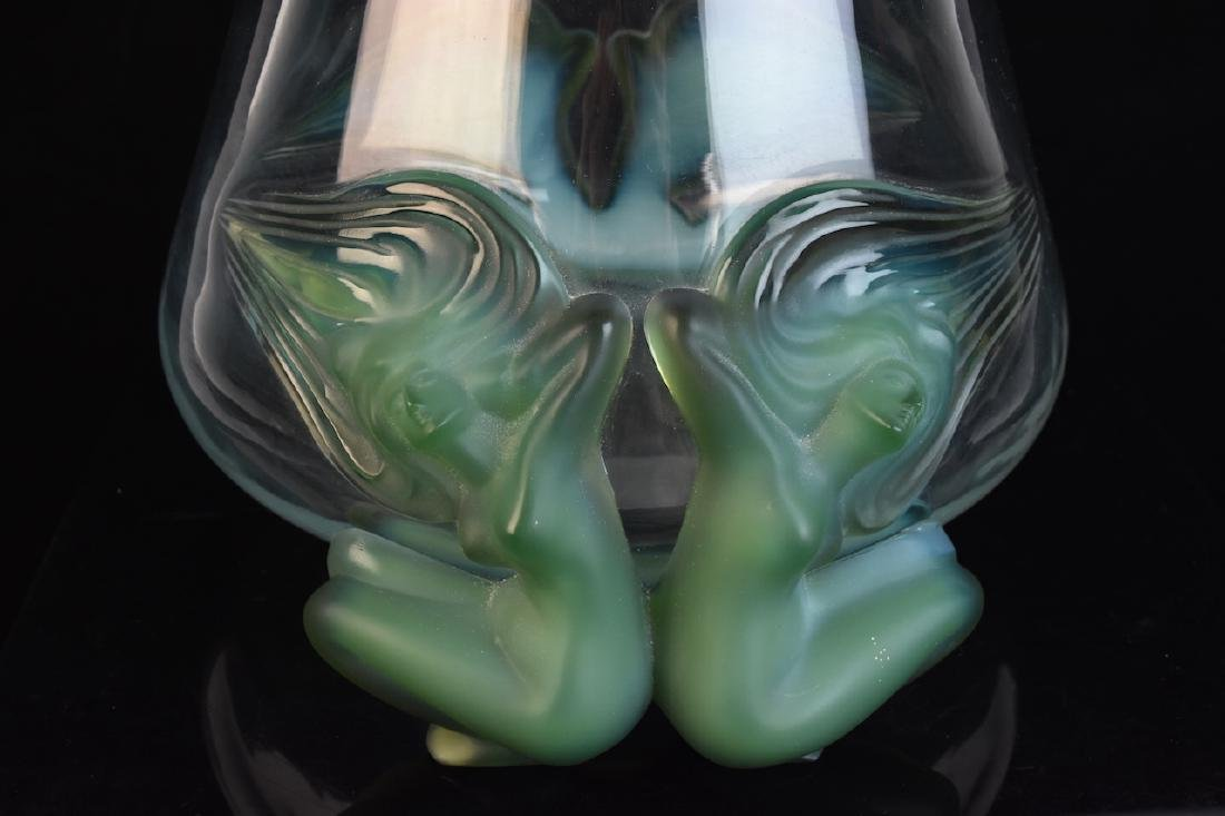 "Lalique France ""Antinea"" Nudes Crystal Vase - 4"
