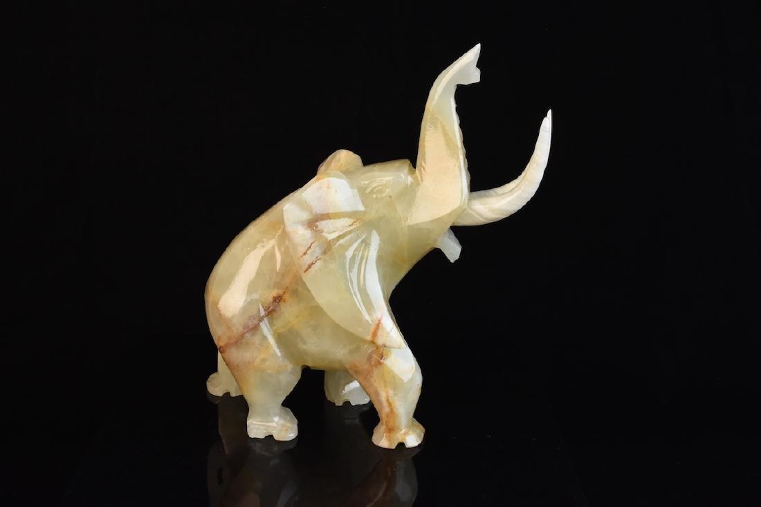 Alabaster Figural Elephant w/ Tusks