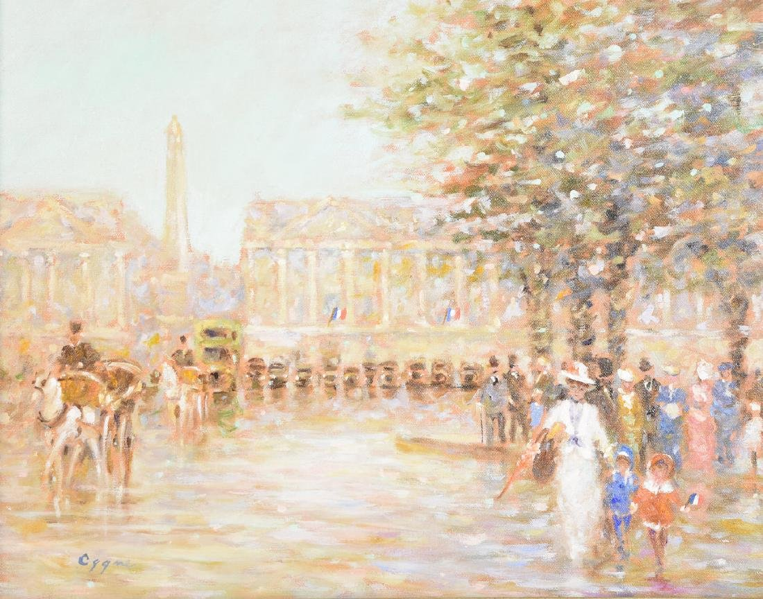 Original E.J. Cygne Signed Oil on Canvas - 2