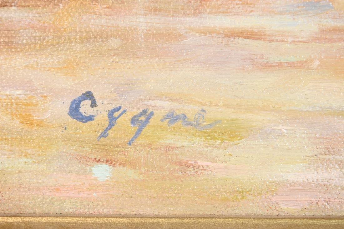 Original E.J. Cygne Signed Oil on Canvas - 3