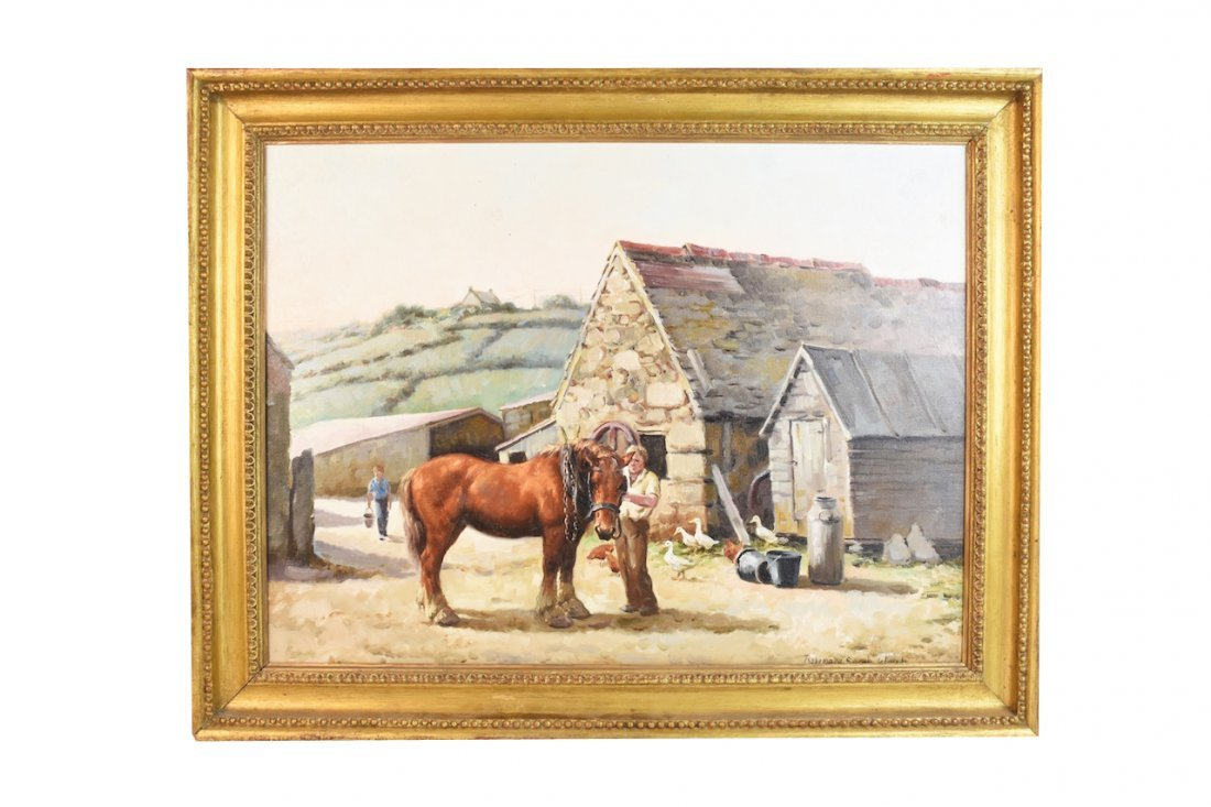 Equestrian Rosemary Sarah Welch Painting; SLR