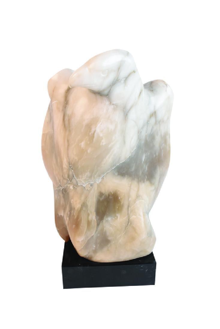 Ralph Hurst Signed Alabaster Eagle Statue