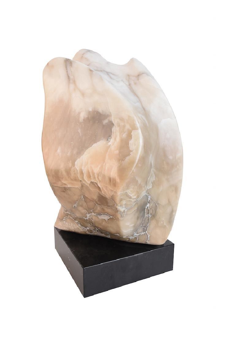 Ralph Hurst Signed Alabaster Eagle Statue - 4