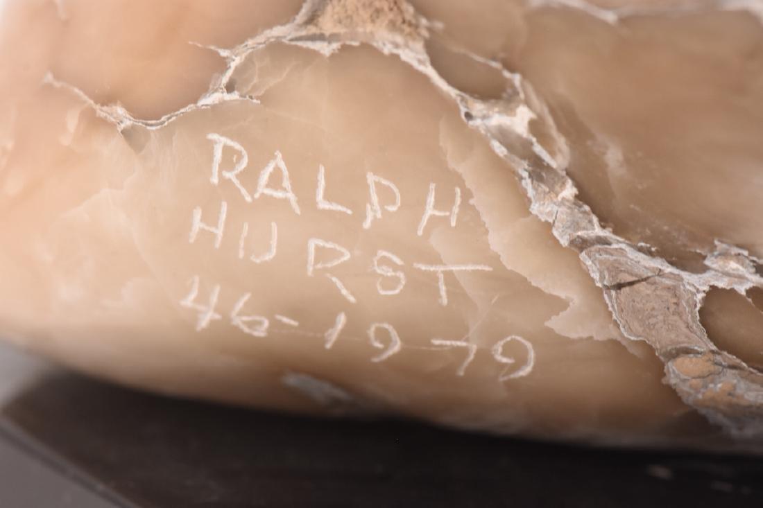 Ralph Hurst Signed Alabaster Eagle Statue - 6