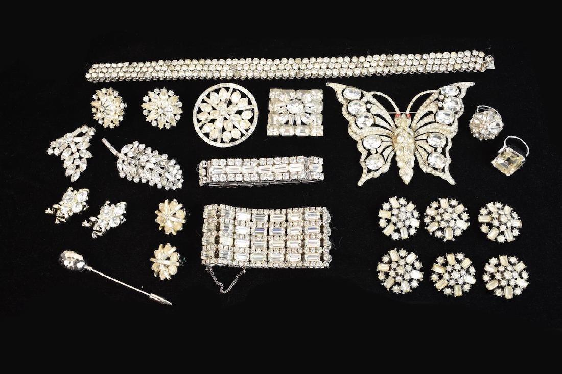 Rhinestone Jewelry; Staret, Eisenberg +