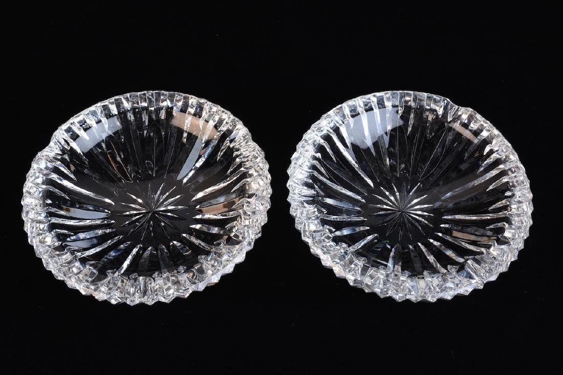 Pair of Waterford Cut Crystal Ashtrays
