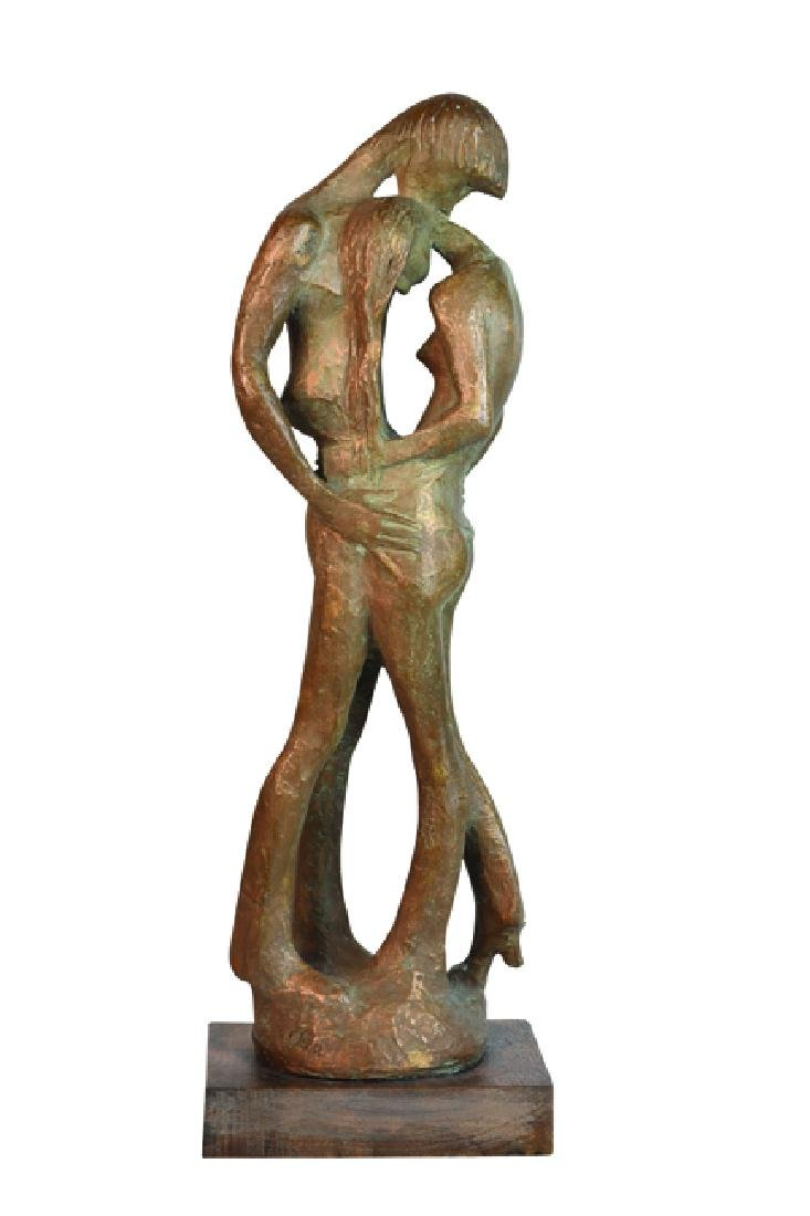 Milton Hebald Bronze Sculpture; First Love