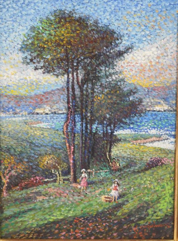 Lucien Neuquelman Original Oil on Canvas - 2