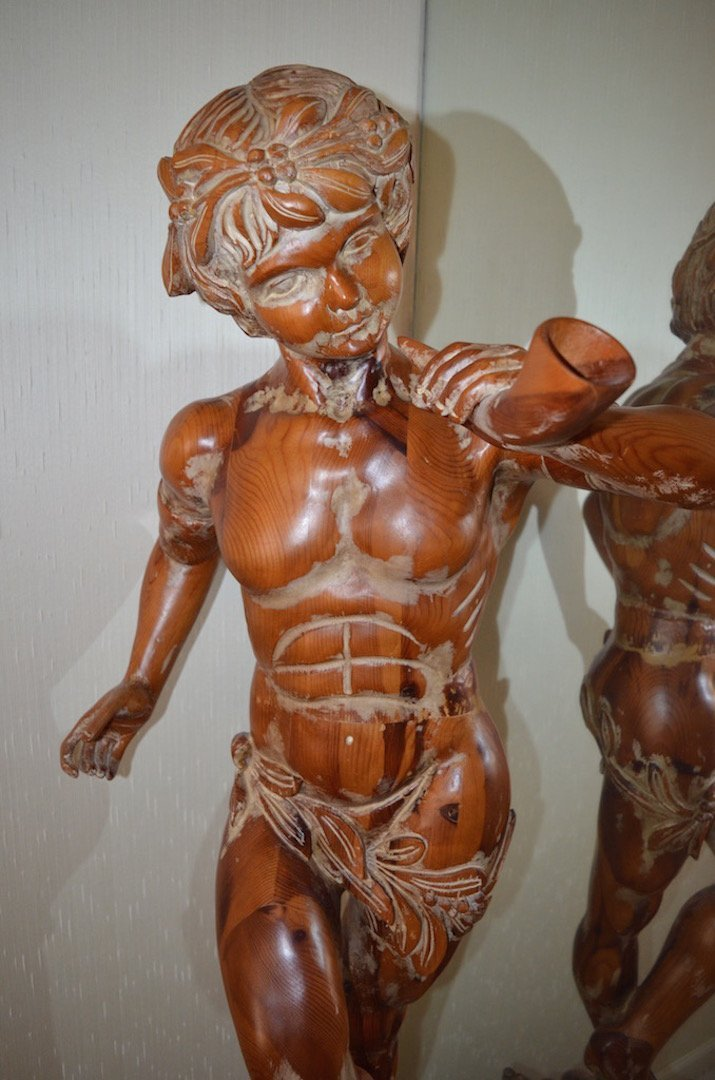 5' Italian Carved Wood Statue; Artist Unknown - 3