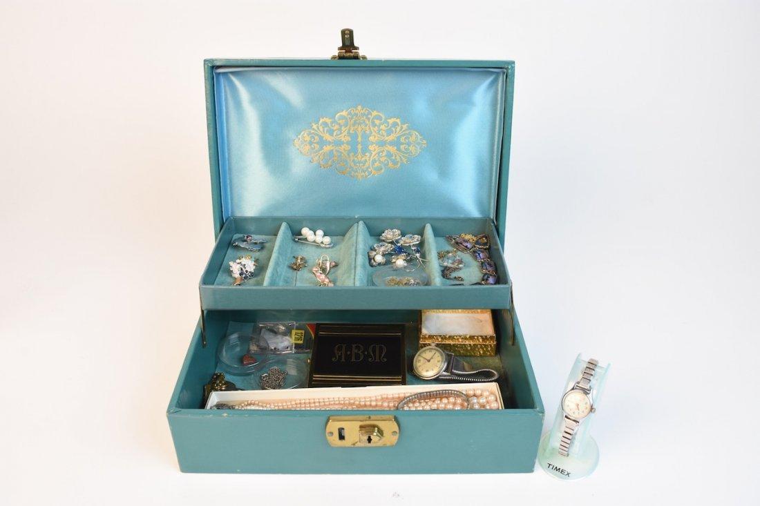 Vintage Jewelry; Trifari, Timex, Sterling +