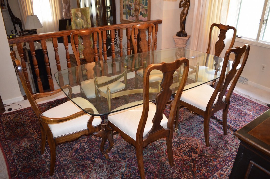 Drexel Heritage Dining Table W/ 6 Chairs