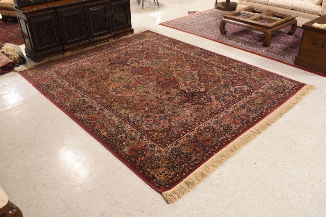 Karastan Kirman 100% Wool Area Rug & (2) Accent Rugs