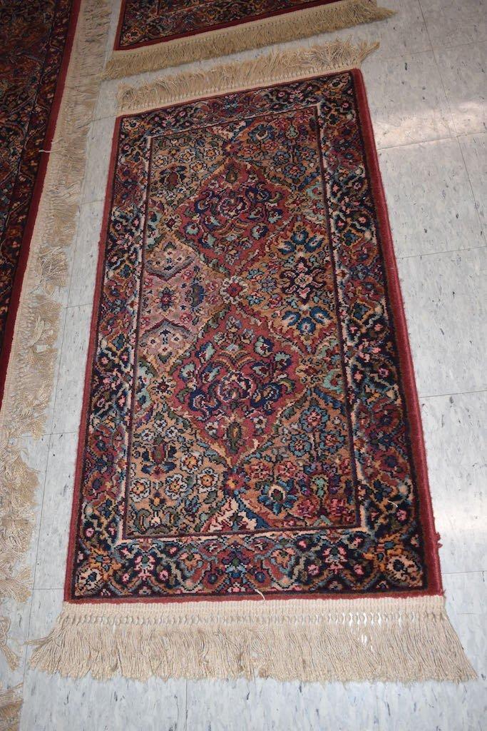 Karastan Kirman 100% Wool Area Rug & (2) Accent Rugs - 6