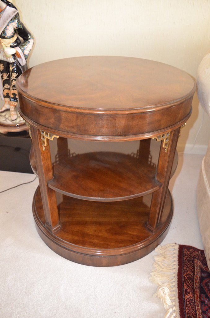 Drexel Heritage Round Tiered End Table