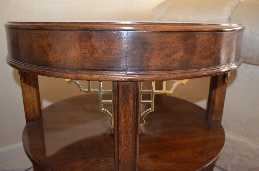 Drexel Heritage Round Tiered End Table - 2
