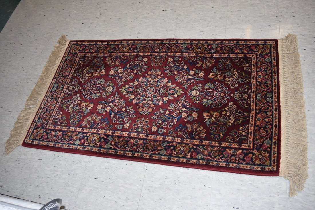 2 x 4 Karastan Red Sarouk Rug Design 785 - 2