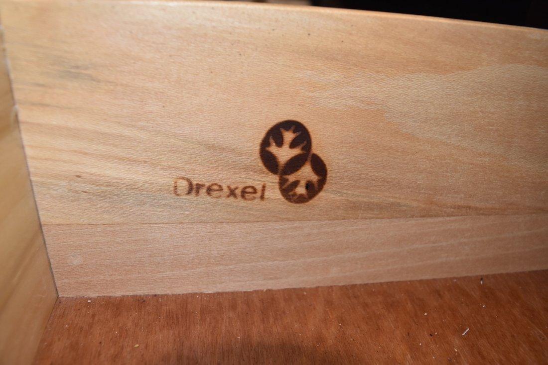 Drexel Bar W/ 2 Cane Bar Stools - 4